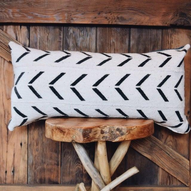 African Indigo & Mudcloth Lumbar Pillow - Image 2 of 4
