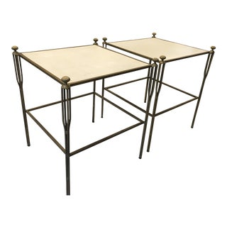 Gabby Home Brass Side Tables - A Pair