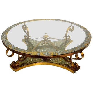 Arturo Pani Round Cocktail Table with Eglomized Top