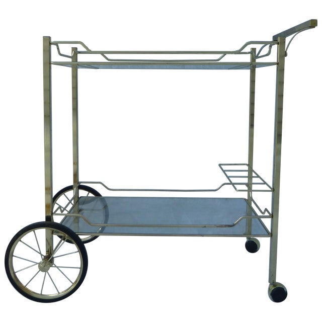 Image of Hollywood Regency Styled Bar Cart