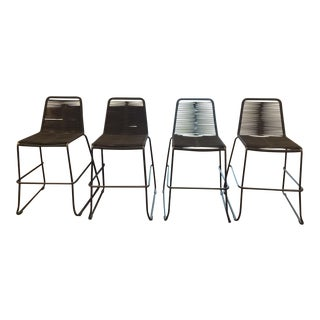 Modloft Barclay Black Steel Counter Stools - Set of 4