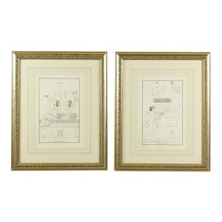 18th Century Nicolas Xavier Willemin Engravings - A Pair
