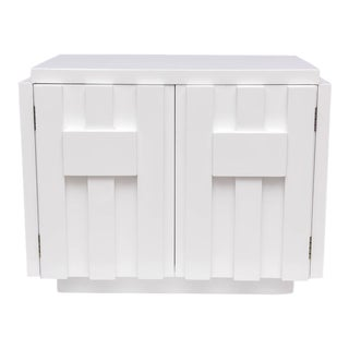 Pair of Milo Baughman for Lane Nightstands in White Lacquer, 1970s, USA