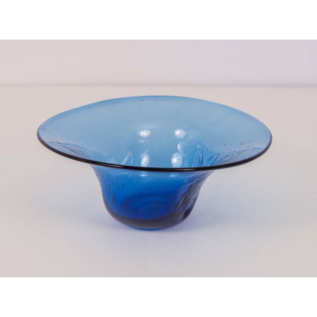 Dimpled Blenko Glass Bowl - Image 3 of 9