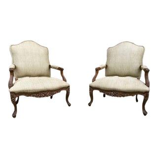 French Style Refurbished Mid-Century Chairs - A Pair