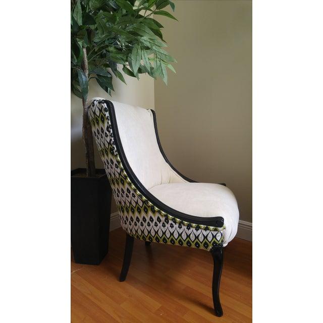 Ivory Amp Black Accent Chair Chairish