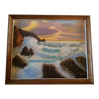 """""""Sunset on the Ocean"""" Painting"""