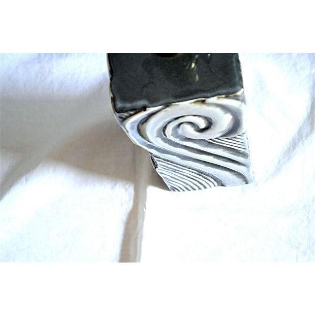 Image of Gray Swirl Mid-Century Table Lamp