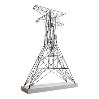Powder Coated Steel Tower With Pedestal