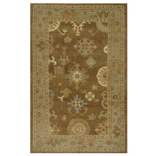Turkish Wool Oushak Rug - 5′3″ × 8′4″