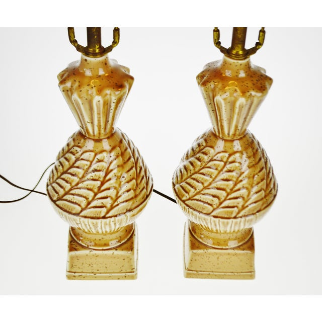 Vintage Ceramic Glazed Table Lamps - A Pair - Image 4 of 10