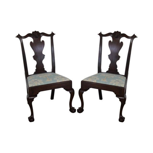 Henkel Harris Dining Room Furniture: Henkel Harris Mahogany Chippendale Dining Chairs