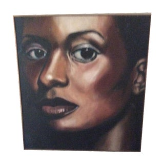 Woman's Face Oil Painting by Sandra Rowe