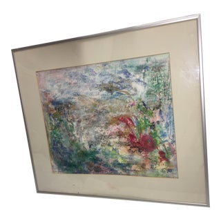 Abstract Mixed Media Garden Painting