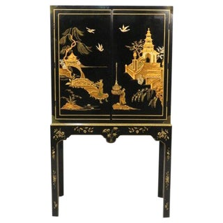 Baker Collection Chinoiserie Bar Cabinet