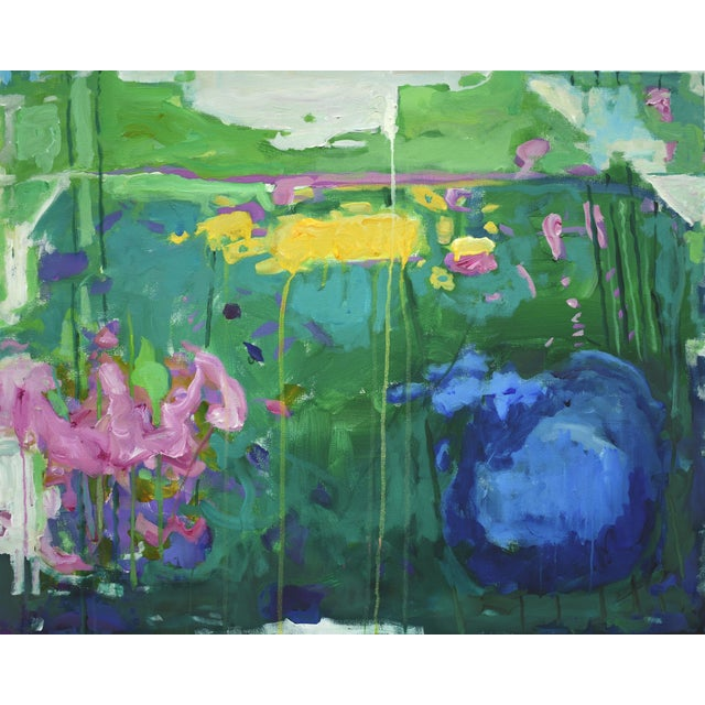 "Stephen Remick Abstract Painting, Garden Party Painting - 24"" X 30"" - Image 8 of 9"