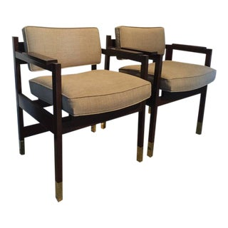 Architectural Sornay Style Elegant Pair of Armchairs