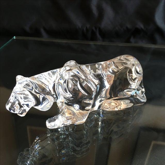 Vintage Baccarat Crouching Crystal Tiger - Image 3 of 7