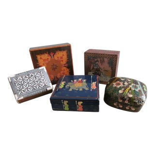 Global Motif Trinket Box Collection - Set of 5