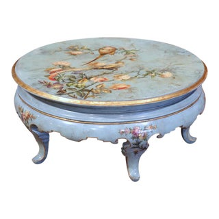 Early 20th Century French Hand-Painted Round Coffee Table