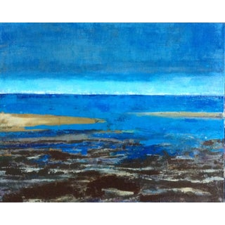 """Truro Seascape"" Abstract Acrylic Painting"