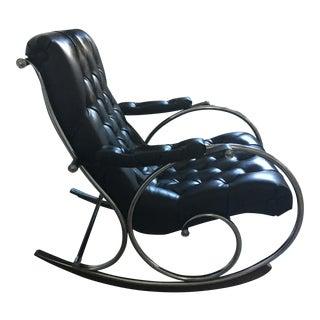 Mid-Century Chromed Lee L. Woodard Rocking Chair