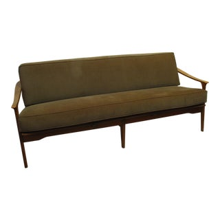 Velvet Sofa with Two Matching Armchairs