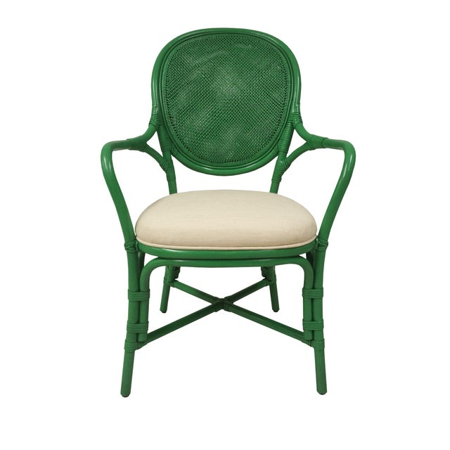 Selamat Designs Parsley Dahlia Arm Chairs - A Pair - Image 3 of 6