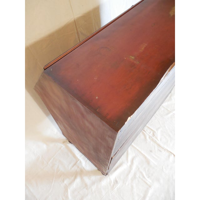 Signed Pennsylvania 1836 Cherry Slant Front Desk - Image 8 of 11
