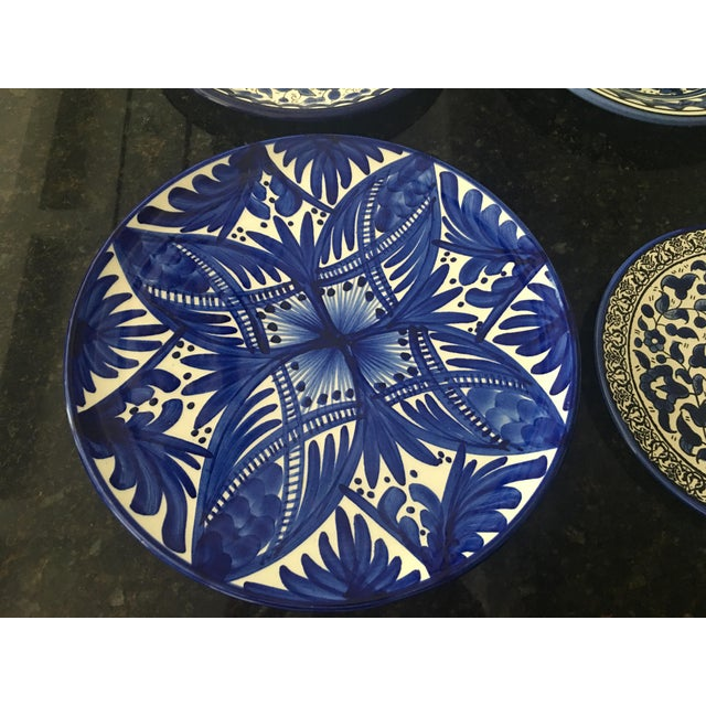 Blue & White Wall Plates - Set of 4 - Image 3 of 6
