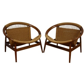 Ringstol Loungers by Illum Wikkelsø - A Pair