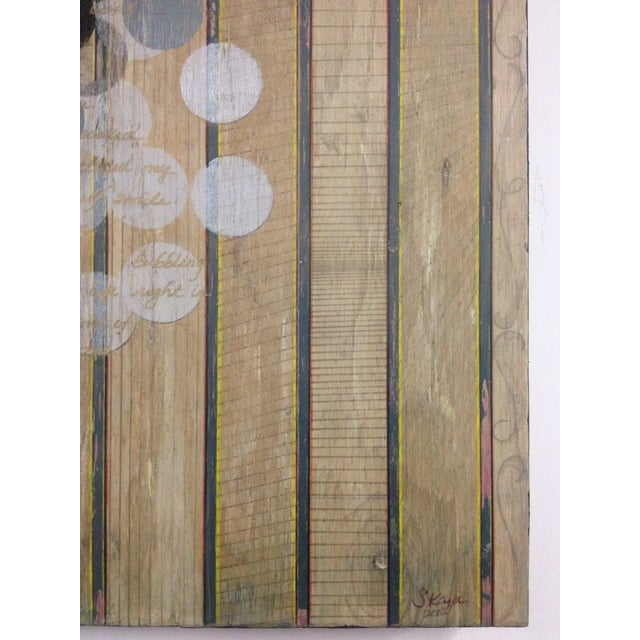 Circles and Stripes Mixed Media Original Art - Image 9 of 10