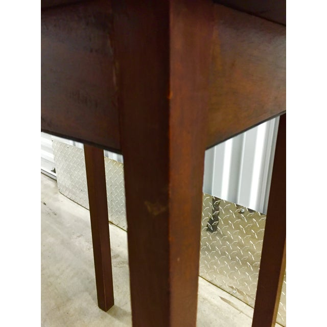 Antique Lift-Top Side Table - Image 8 of 8