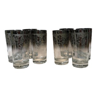 Dorothy Thorpe Embossed Ombré Glasses - Set of 8