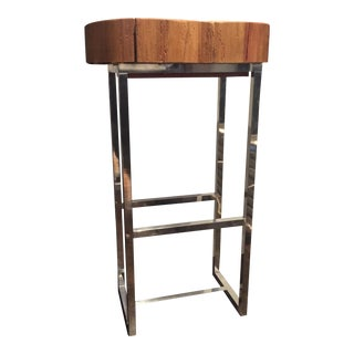 Authentic Wood & Metal Side Table