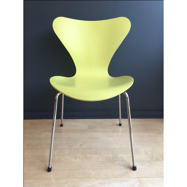 arne jacobsen fritz hansen series 7 chair chairish. Black Bedroom Furniture Sets. Home Design Ideas