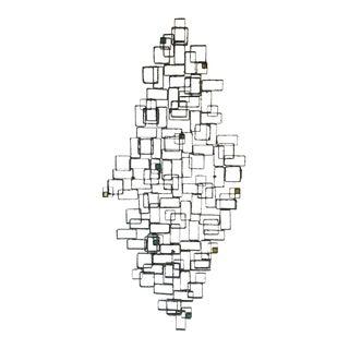 Studio Brutalist Wall Sculpture by American Sculptor John De La Rosa