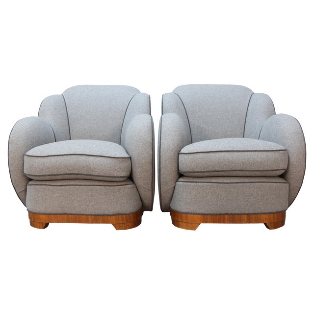Art Deco Upholstered Chairs - A Pair - Image 1 of 9
