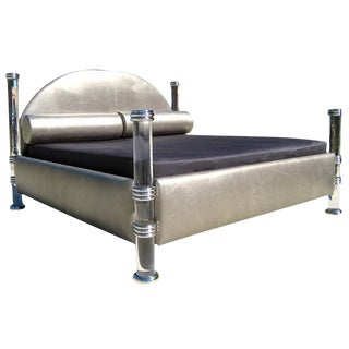 Marcello Mioni Acrylic And Leather King Size Bed
