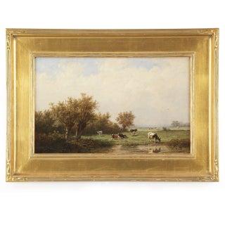 Anthonie Jacobus Van Wyngaerde Cows at Pasture Painting