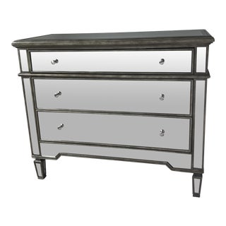 Worlds Away Cary Mirrored 3 Drawer Chest