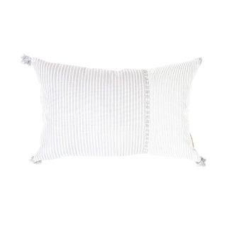 "Striped Grey & White Pillow - 20"" x 13"""