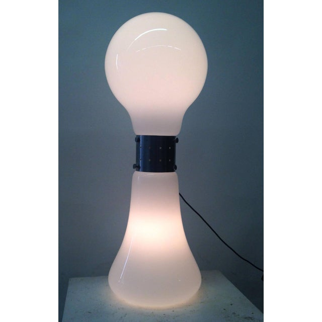 1970's Floor Light with Opaque Glass Base - Image 9 of 10