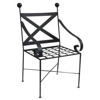 Forged Iron X Back Chair