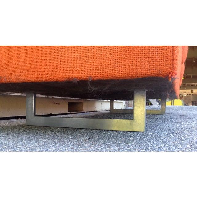 Orange Mid Century Sofa: Mid-Century Modern Bright Orange Sofa