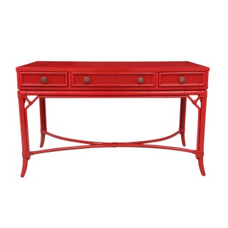 Red Chinoiserie Style Writing Desk