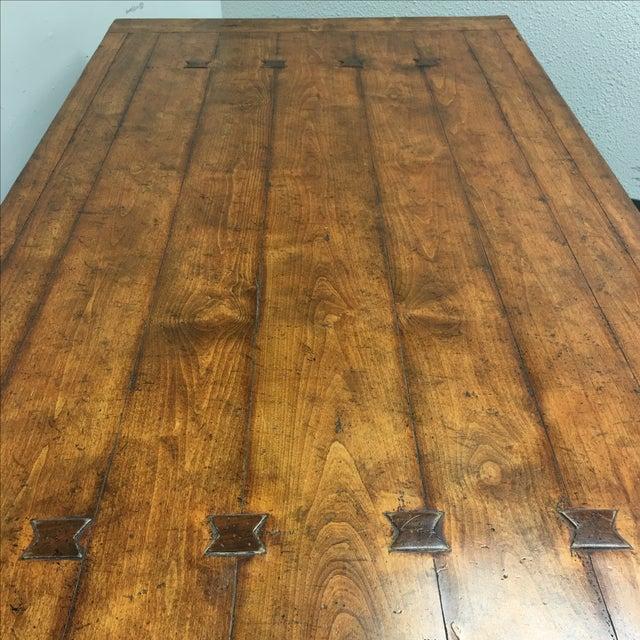 Guy Chaddock Little Hampton Pedestal Trestle Table - Image 5 of 11