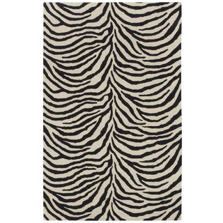 Safari Zebra Wool Capel Rug - 9′ × 12′