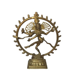 Vintage Brass Shiva Statue