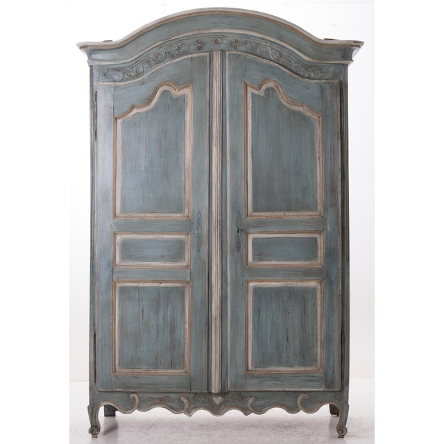 French Early 19th Century Painted Cherry Armoire - Image 2 of 10